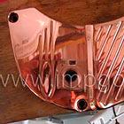 Galvanoplastia de cobre chapado Aplicación de cobre. deposición electrolítica del cobre
