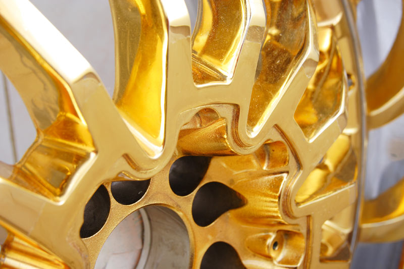 порошковое покрытие металлических изделий золото